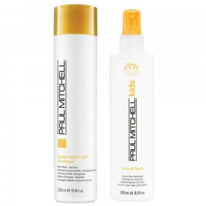 Zestaw Paul Mitchell Kids Szampon Baby Don`t Cry + Taming Spray